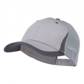 Mesh Cotton Structured Cap - Light Grey Dark Grey