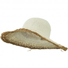 Multi Color Edge Wired Brim Hat - White
