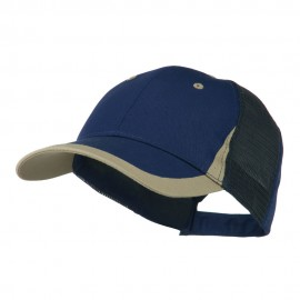 Mesh Cotton Structured Cap - Navy Khaki