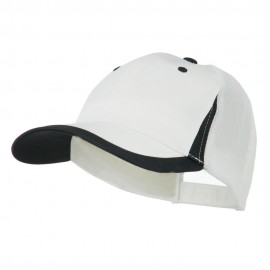 Mesh Cotton Structured Cap - White Black