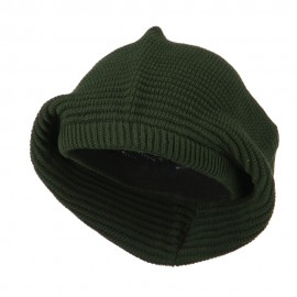 Medium Crown New rasta Beanie Hat - Olive