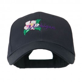 USA State Flower Michigan Apple Blossom Embroidered Cap