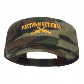 Vietnam Veteran Embroidered Camo Army Cap