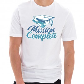 Mission Complete Graphic Design Unisex Ring Spun Combed Cotton Short Sleeve Deluxe Jersey T-Shirt