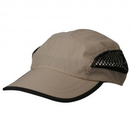 Nylon Oxford Mesh Cap-Khaki