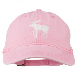 American Moose Embroidered Washed Cap