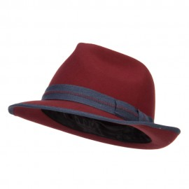 Women's Wool Felt Band Fedora