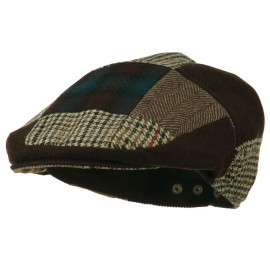 Men's Patchwork Ivy Cap - Brown Green