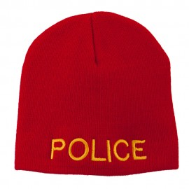 Military Police Embroidered Short Beanie