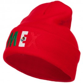 Mexico Embroidered Long Beanie