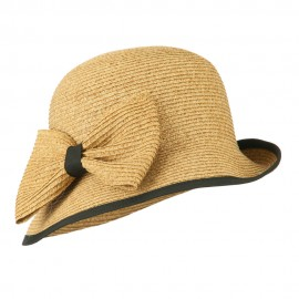 Women's UPF 50+ Slanted Brim Cloche - Toast
