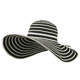 UPF 40+ Striped Floppy Wide Brim Sun Hat