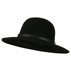 Men's Wool Felt Large Brim Fedora - Black