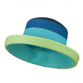 Multi Color Fashion Hat - Blue