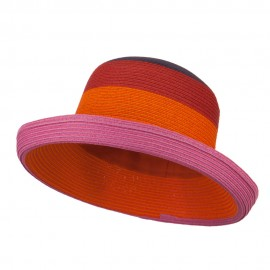 Multi Color Fashion Hat - Purple