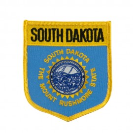 Mid State Flag Embroidered Patch Shield - South Dakota