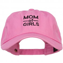 Mom of Girls Embroidered Unconstructed Cap