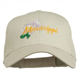 USA State Mississippi Flower Southern Magnolia Embroidery Cap