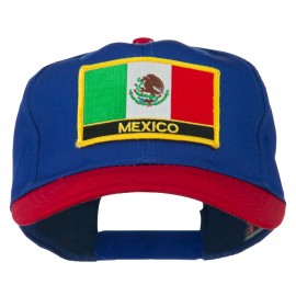 Mexico Flag Cotton Twill Pro Style Patched Cap
