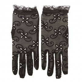 Woman's Glitter Accented Summer Sheer Glove