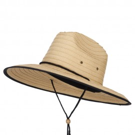 Men's Paper Braid Life Guard Hat - Tan