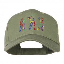 Men's Golf Sequence Embroidered Cap