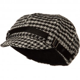 Ladies Mini Houndstooth Cabby Cap