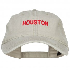 Houston Embroidered Washed Buckled Cap