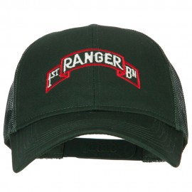 1st Ranger Bn Embroidered Solid Cotton Mesh Pro Cap