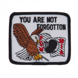 Pow Mia Embroidered Military Patch - Not Forgotten