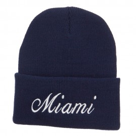 City of Miami Embroidered Long Beanie