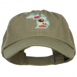 USA State Michigan Patched Low Profile Cap