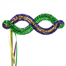 Mardi Gras Sequin Eye Mask