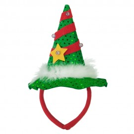 Mini Light up Christmas Tree Headband