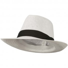 Men's Large Brim Fedora Hat - White