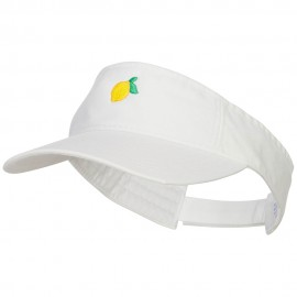 Mini Lemon Embroidered Cotton Washed Visor