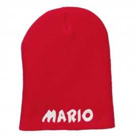 Mario Letter Embroidered Short Beanie