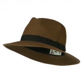 Big Brim Fedora - Brown