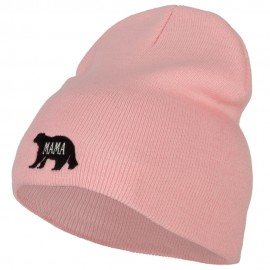 Mama Bear Embroidered Knitted Short Beanie