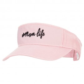 #Mom Life Embroidered Pro Style Cotton Washed Visor