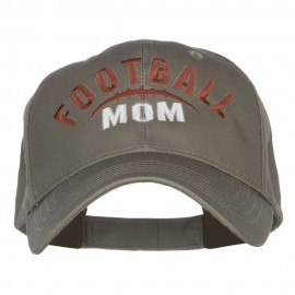 Football Mom Embroidered Organic Cotton Cap
