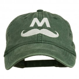 Halloween Mario M Mustache Embroidered Washed Cap