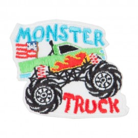 Monster Truck Embroidered Patch