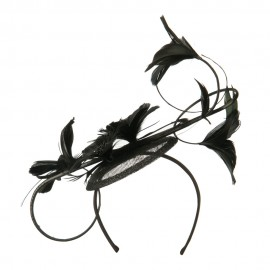 Feather Flower Fascinator Hair Clip
