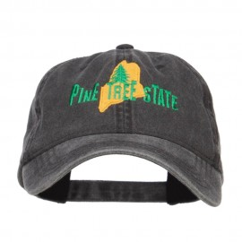 Maine Pine Tree State Embroidered Cap