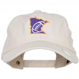 Minnesota Football State Map Embroidered Unstructured Cap