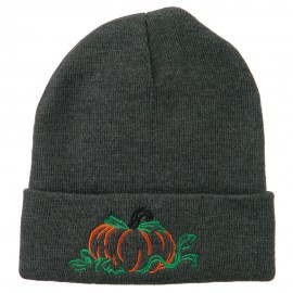 Halloween Pumpkin Embroidered Long Beanie