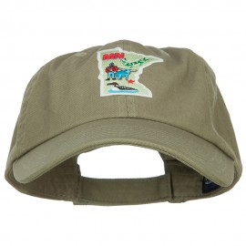 USA State Minnesota Patched Low Profile Cap