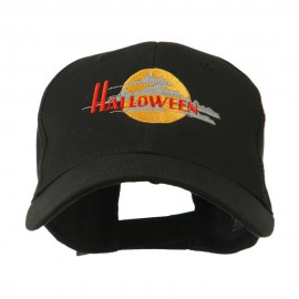 Halloween Moon Embroidered Cap
