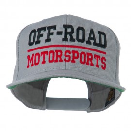 Off Road Motorsports Embroidered Snapback Cap - Silver